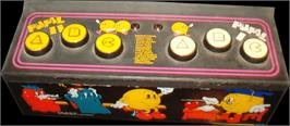 Arcade Control Panel for Professor Pac-Man.