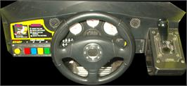 Arcade Control Panel for Sega Rally 2.