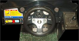 Arcade Control Panel for Sega Rally Championship.