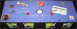 Arcade Control Panel for Simpsons Bowling.