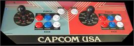 Arcade Control Panel for Street Fighter II: The World Warrior.