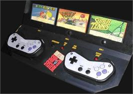 Arcade Control Panel for Super Tennis.