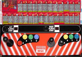 Arcade Control Panel for The King of Fighters '96.