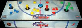 Arcade Control Panel for Wayne Gretzky's 3D Hockey.