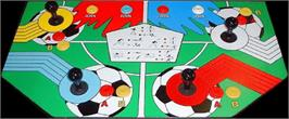 Arcade Control Panel for World Soccer Finals.