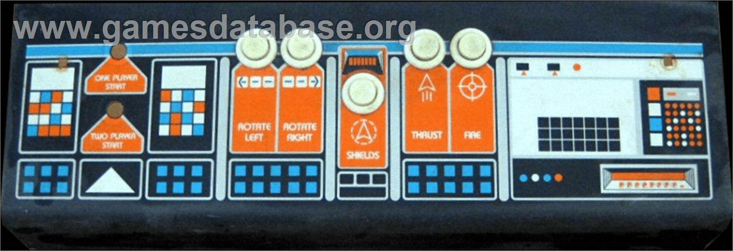 Asteroids Deluxe - Arcade - Artwork - Control Panel