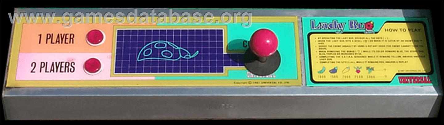 Lady Bug - Arcade - Artwork - Control Panel