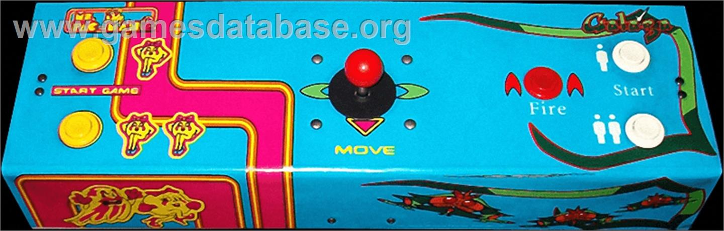 Ms. Pac-Man/Galaga - 20th Anniversary Class of 1981 Reunion - Arcade - Artwork - Control Panel