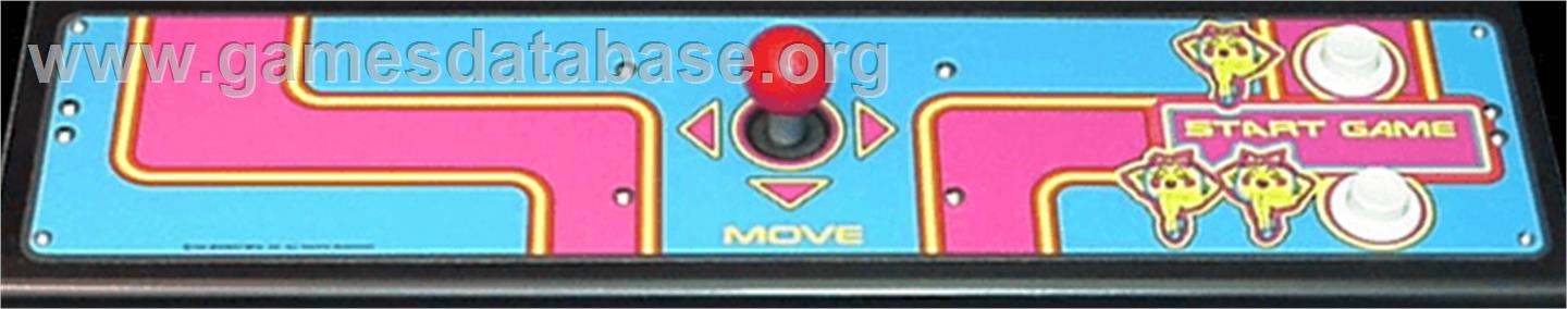 Arcade control panel for ms pac man