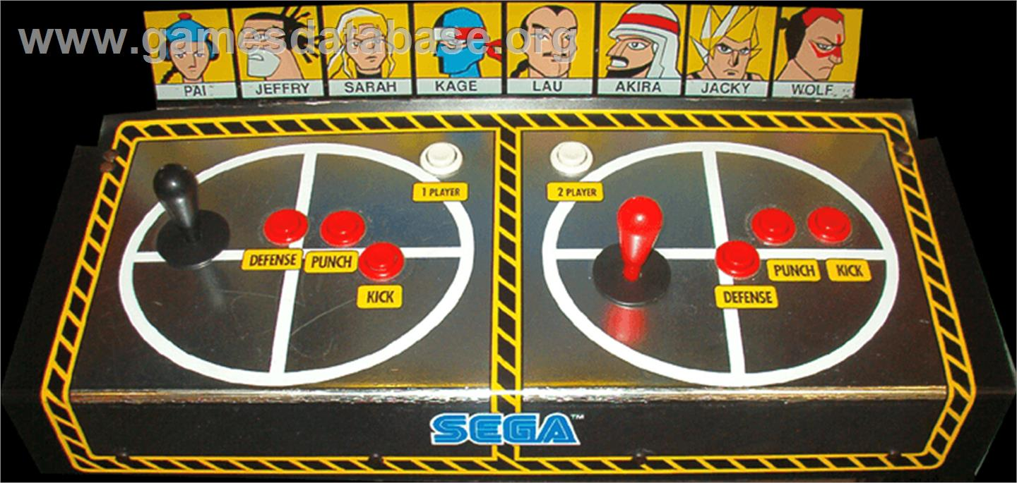 Virtua Fighter - Arcade - Artwork - Control Panel