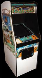 Arcade Cabinet for Galaxian Test ROM.