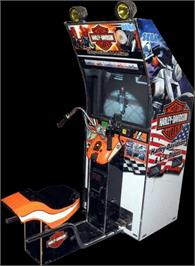Arcade Cabinet for Harley-Davidson and L.A. Riders.