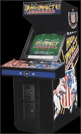 Arcade Cabinet for High Impact Football.