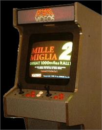 Arcade Cabinet for Mille Miglia 2: Great 1000 Miles Rally.