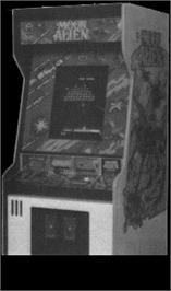 Arcade Cabinet for Moon Alien.