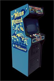 Arcade Cabinet for Moon Patrol.