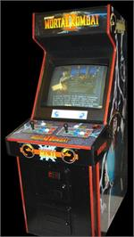 Arcade Cabinet for Mortal Kombat II.
