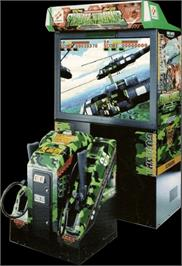 Arcade Cabinet for Operation Thunder Hurricane.
