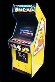 Arcade Cabinet for Professor Pac-Man.