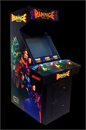 Arcade Cabinet for Rampage: World Tour.