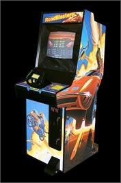 Arcade Cabinet for Road Blasters.