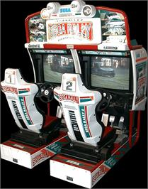 Arcade Cabinet for Sega Rally 2 DX.