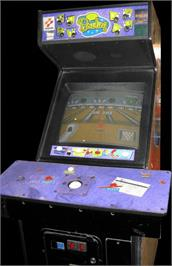Arcade Cabinet for Simpsons Bowling.