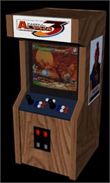 Arcade Cabinet for Street Fighter Alpha 3.