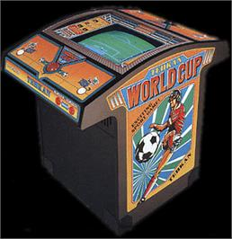 Arcade Cabinet for Tehkan World Cup.