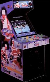 Arcade Cabinet for Wayne Gretzky's 3D Hockey.