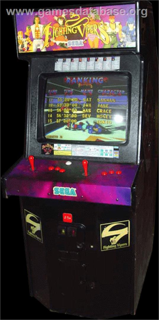 Fighting Vipers - Arcade - Artwork - Cabinet