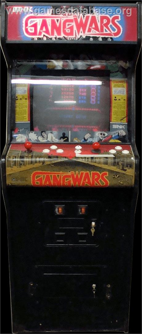 Gang Wars - Arcade - Artwork - Cabinet