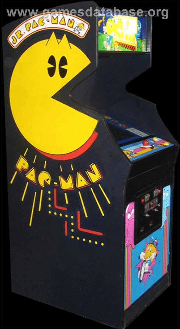 Jr. Pac-Man - Arcade - Artwork - Cabinet