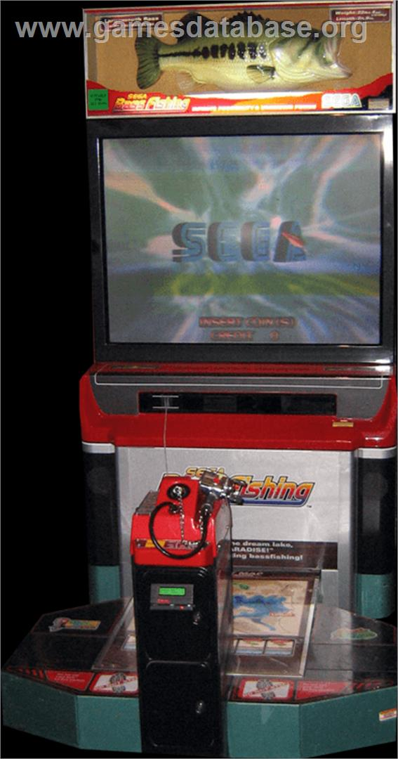 Sega bass fishing arcade games database for Fish arcade game