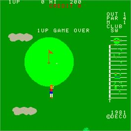 Game Over Screen for 18 Holes Pro Golf.