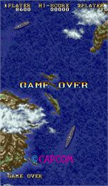 Game Over Screen for 1941: Counter Attack.
