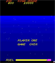 Game Over Screen for 800 Fathoms.