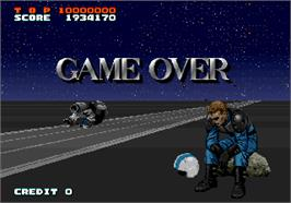 Game Over Screen for A.B. Cop.