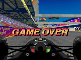 Game Over Screen for Ace Driver: Victory Lap.