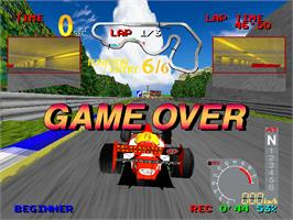 Game Over Screen for Ace Driver.