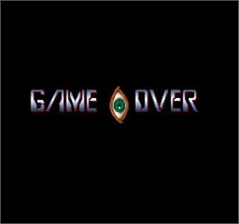 Game Over Screen for Act-Fancer Cybernetick Hyper Weapon.