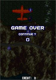 Game Over Screen for Aero Fighters.