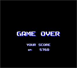 Game Over Screen for Air Buster: Trouble Specialty Raid Unit.