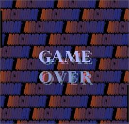 Game Over Screen for Air Combat.