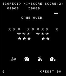 Game Over Screen for Alien Invasion.