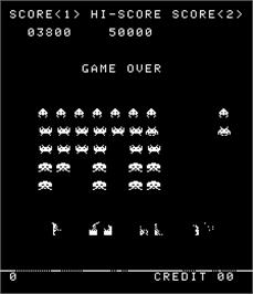 Game Over Screen for Alien Invasion Part II.