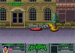 Game Over Screen for Alien Storm.