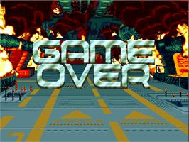 Game Over Screen for Alligator Hunt.