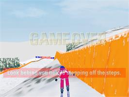 Game Over Screen for Alpine Racer.