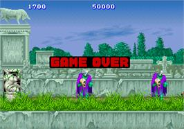 Game Over Screen for Altered Beast.